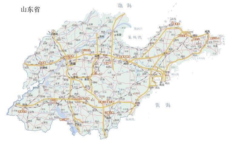 山东省地图,山东地图全图,山东旅游交通地图-山东旅游地图交通图